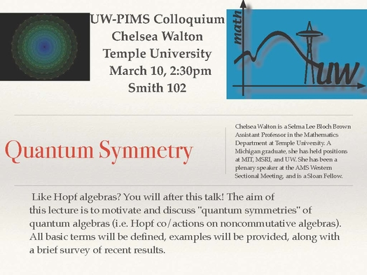Quantum Symmetry | Department of Mathematics | University of Washington