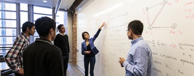 The UW will host the Institute for Foundations of Data Science to develop the theoretical foundations of a fast-growing field: data science. Maryam Fazel, shown here in a 2015 photo, will lead the institute. (Patrick Bennett/University of Washington)