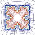 Zipper algorithm approximation of a snowflake fractal curve