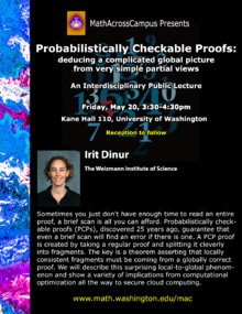 Lecture Poster: Probabilistically Checkable Proofs
