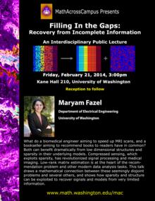 Maryam Fazel MathAcrossCampus poster