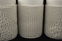 Burst and Follow Series (Cellular Automata), 3D printed porcelain.