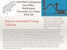 UW-PIMS Colloquium: Sara Billey