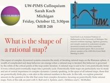 UW-PIMS Colloquium: Sarah Koch