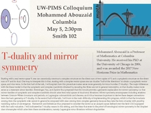 Colloquium poster: Mohammed Abouzaid