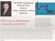 UW-PIMS Colloquium: William Velez