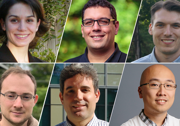 The UW team, clockwise from top left: Maryam Fazel, Zaid Harchaoui, Kevin Jamieson, Yin Tat Lee, Abel Rodriguez and Dmitriy Drusvyatskiy (University of Washington)