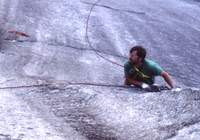 Steve Mitchell climbing in Squamish