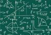 Math formulas on chalkboard