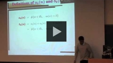 YouTube link to UW-PIMS Mathematics Colloquium (January 14, 2011)