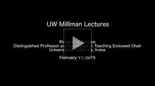 YouTube link to 2014-2015 Milliman Lectures (FEBRUARY 10-12, 2015)