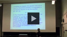 YouTube link to UW-PIMS Mathematics Colloquium: Edward Witten (Gauge Theory and Khovanov Homology)